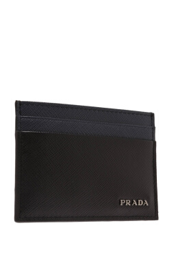 Prada Saffiano Bicolore Card Holder
