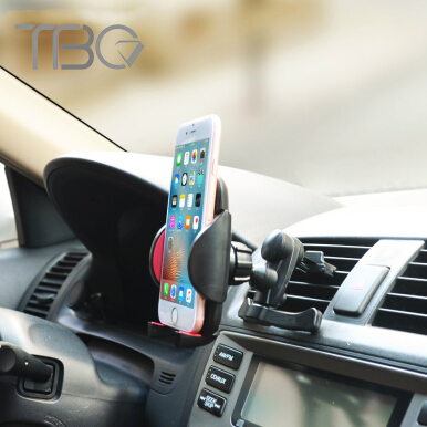 TBQ universal phone holder stand car air vent mount holder for smartphone mobile phone accessories for iphone 5s 6 7 plus Black
