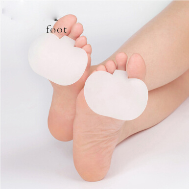 BANGLONG 1Pair Gel Forefoot Metatarsal Ball of Foot Pads Toe Silicone Cushion Insoles Orthotics Foot Care Shoe Pads - White