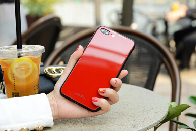 VEN For Apple iPhone 5/5S/5SE/5C Case Tempered Glass Back+Soft Silicone Around Cover Luxury Soft Silicone Edge Hard Back Red