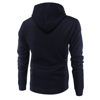 Fashionmall Fashion Color All-Match Mens Hoodie Sweater Cardigan Cadetblue XL