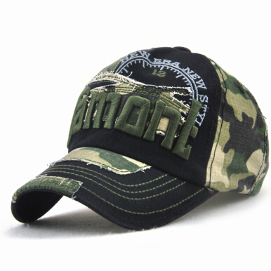JAMONT Men's original European and American outdoor sun hat leisure camouflage baseball cap-Black