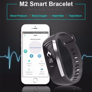 SANDA M2 Fatigue monitoring Blood Pressure Pedometer Sport Smart Band For Xiaomi Samsung Huawei iphone Blue