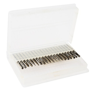 Vaping Dream - 20 Pcs 3mm Shank Tungsten Baja Solid Set Gerinda Berlian dan Ukiran Silver Others