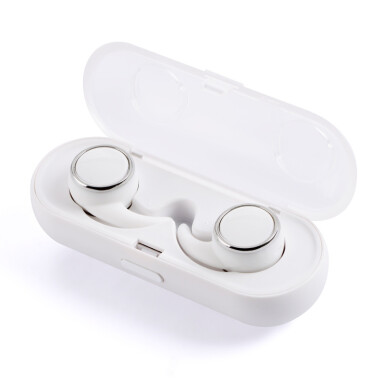 WH R160 Binaural Mini Bluetooth Earphone Twins headset Stereo Wireless Headphone With Mic Charging Box for xiaomi huawei iphone Black