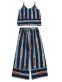 Cami Top with Striped Gaucho Pants