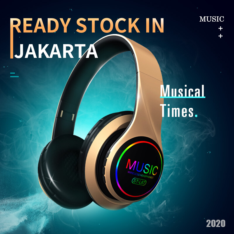 On-Ear Headphone Handsfree Wireless Headphone Headset Gaming sport Wireless Foldable Headset with Strong Bass Clear Audio