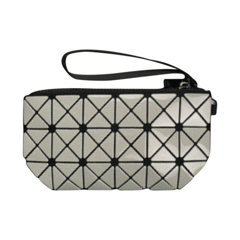 Small Size 2017 Fashionable Women Lady Diamond Lattice Fold Over Handbags Silver