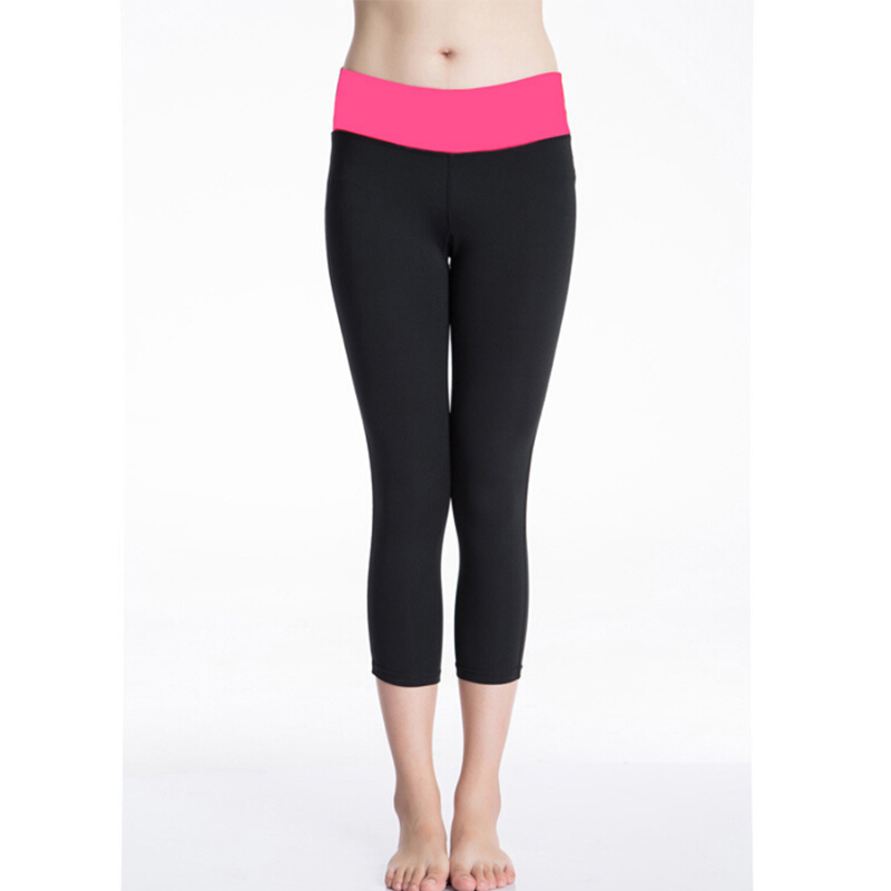 Womens Fitness Compression Leggings Yoga Pants Gym Ladies 3//4Trousers