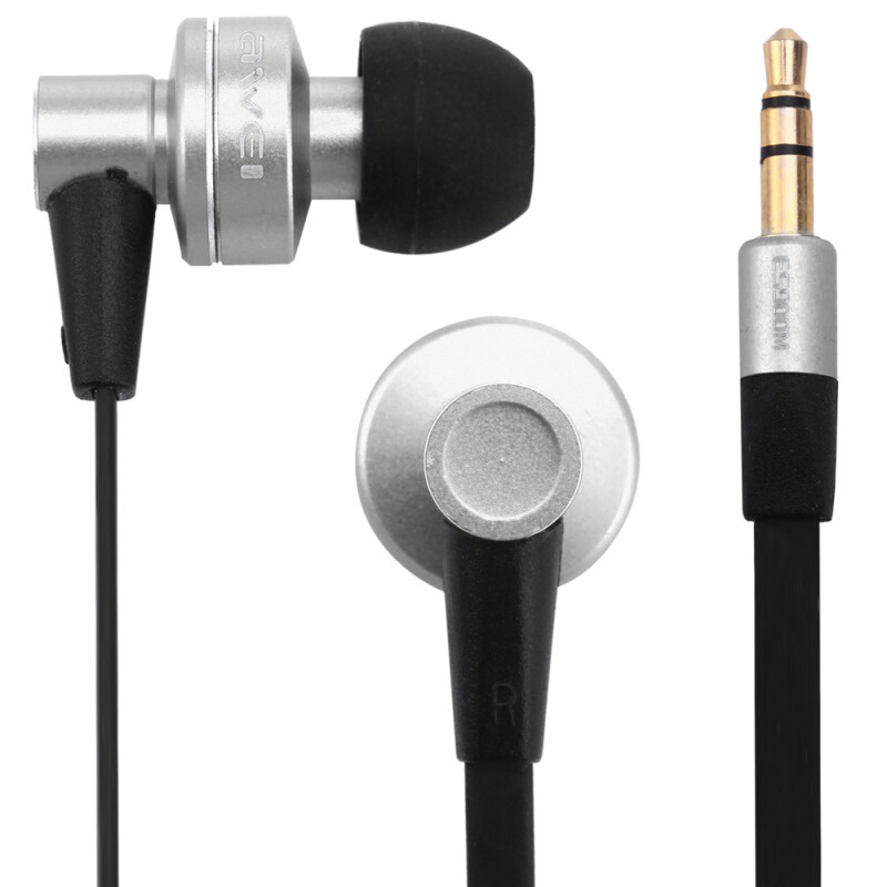 Awei ES900M 1.2m Earphone Noise Isolation For Mobile Phone Tablet PC