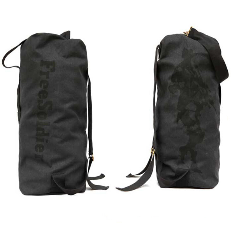 Jual FREE SOLDIER 33L Canvas Tactical Backpack Barrel Bag for Climbing Aosen 37c7760e07
