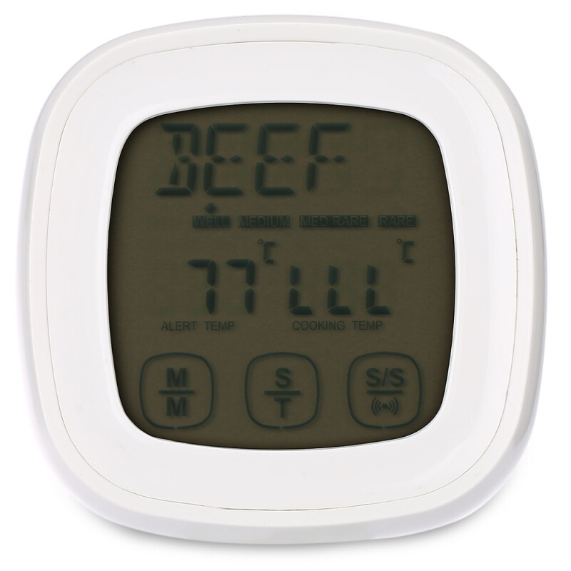 TS - 802A Touch Screen Meat Cooking Grill Thermometer Timer with Probe