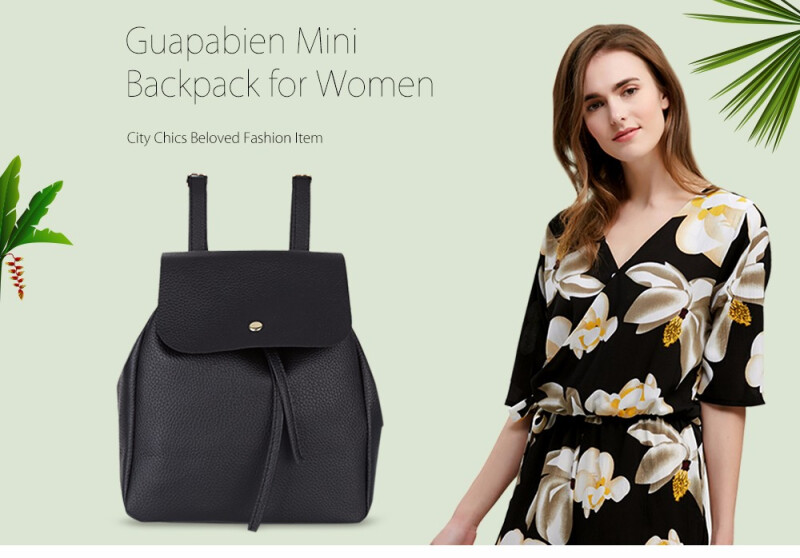 Guapabien Preppy Style Mini Drawstring Backpack for Women