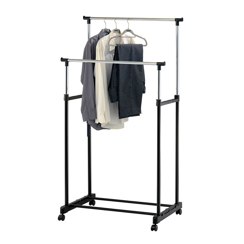 JYSK Clothes Rail Double Gudme 84x42x167cm Black