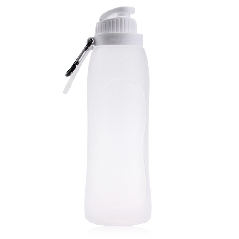 My Friday Portable Sport 500ML Silicone Water Bottle