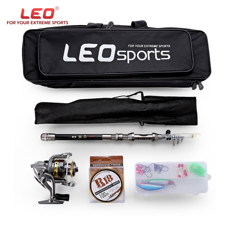 LEO Outdoor Fishing Spinning Reel Rod Kit 1.5M