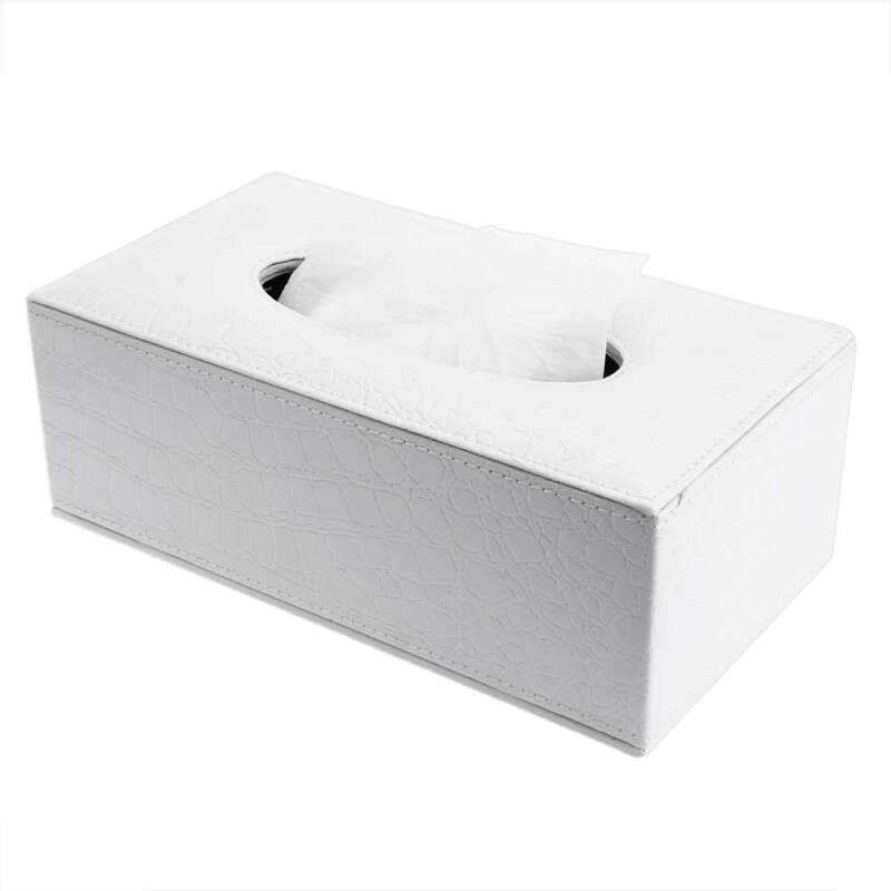 Fashionable Elegant Royal PU Leather Household Tissue Box