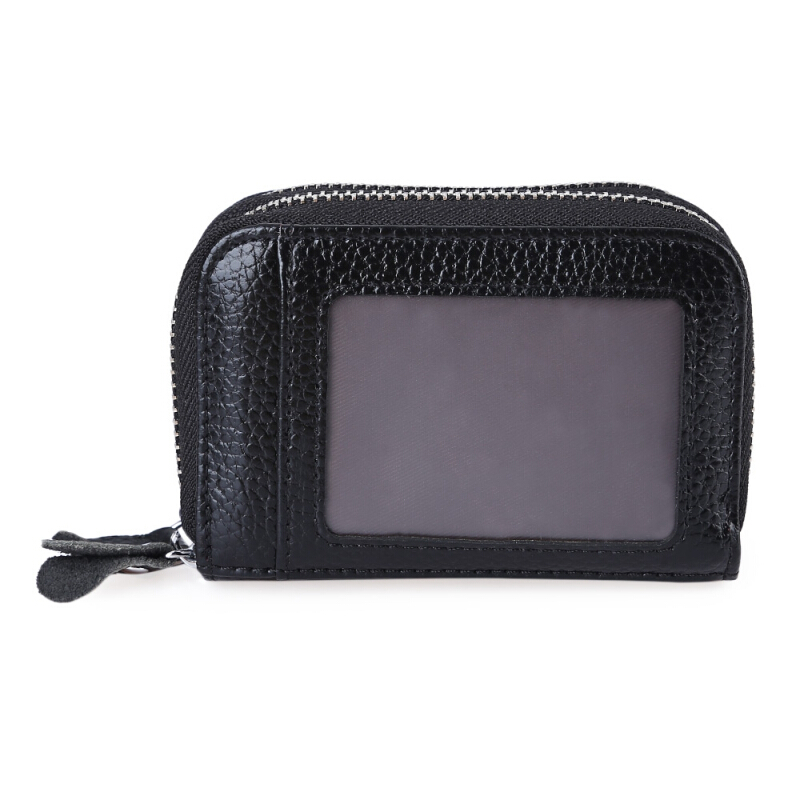 Stylish Unisex Antimagnetic Zigzag Folding Solid Color Cash Holder Coin Purse Card Bag