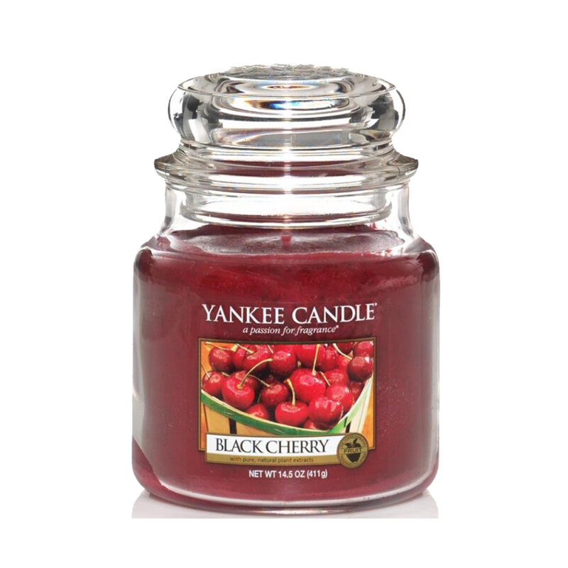 Yankee Candle Medium Candle Jar - Black Cherry - 411gr