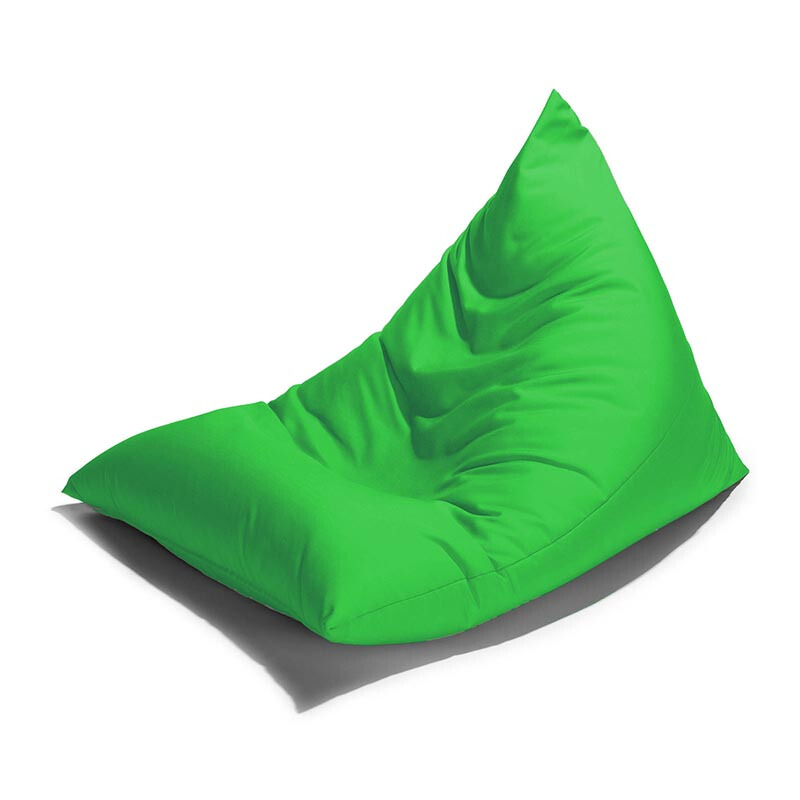 PRISSILIA Bean Bag Triangle Green 90x140x90cm
