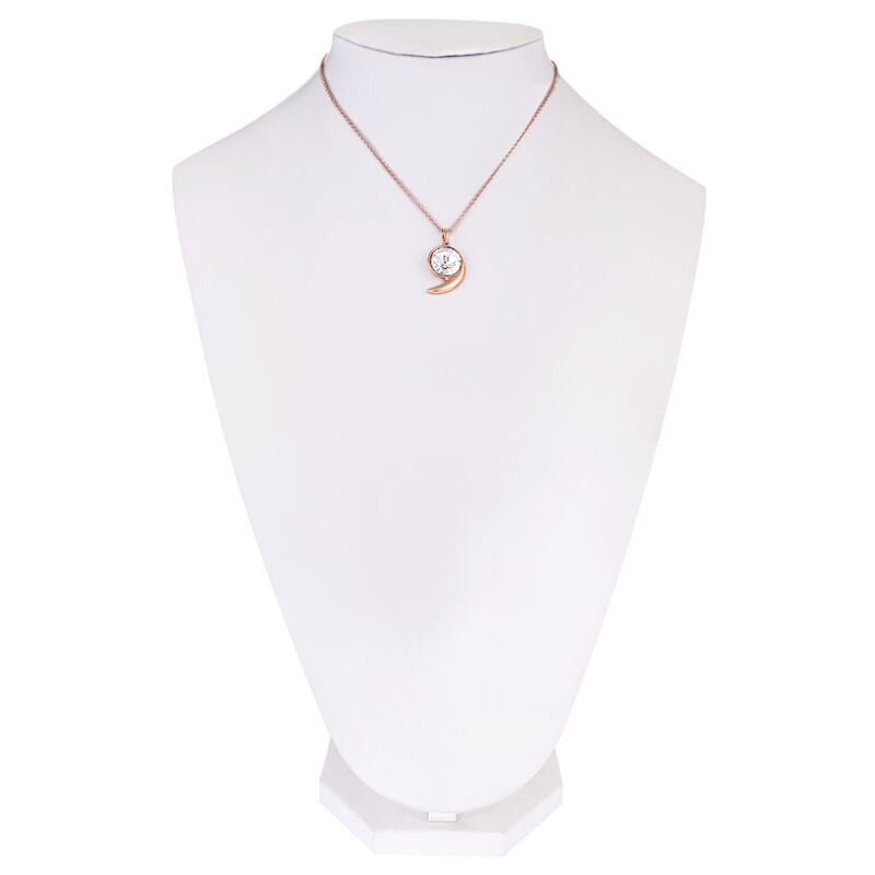 Sparkling Comma Shape Rhinestone Women Necklace