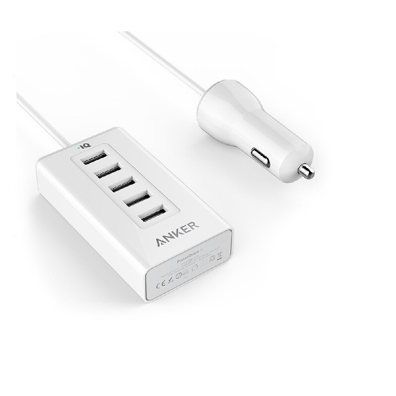 ANKER PowerDrive 5 Multi Port Car Charger - White [A2311H22]