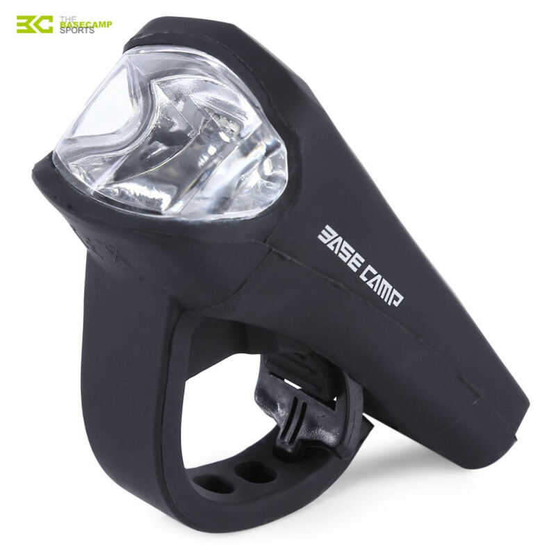 BASECAMP MTB Bicycle Silica Gel Waterproof USB Charging 3W LED Front Light Lamp Bike Accessories