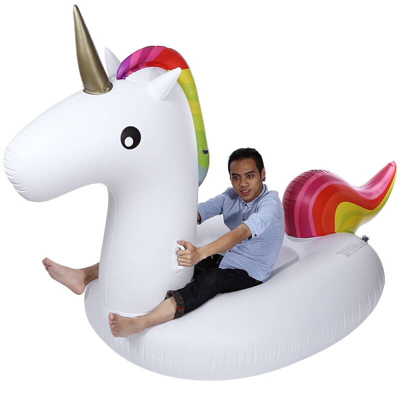 Swimming Water Lounge Pool Giant Rideable Unicorn Inflatable Float Toy