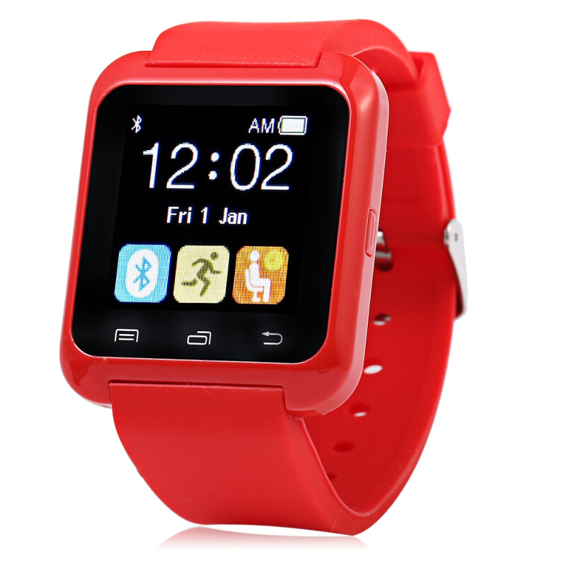 U80 Bluetooth 3.0 Smart Watch Wristwatch Red