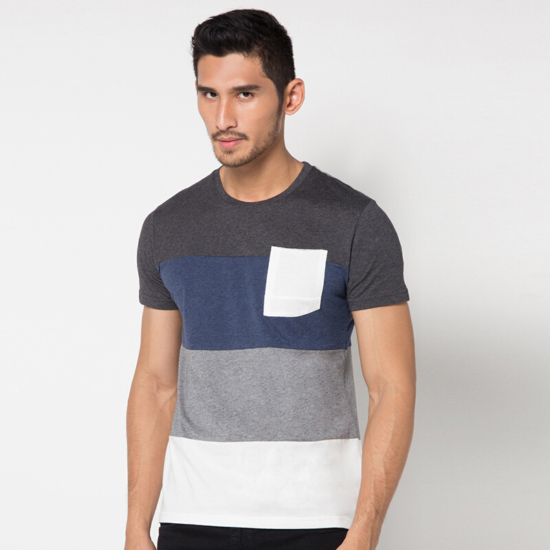 MINARNO 3 Stripes Pocket 02 - Grey [S]