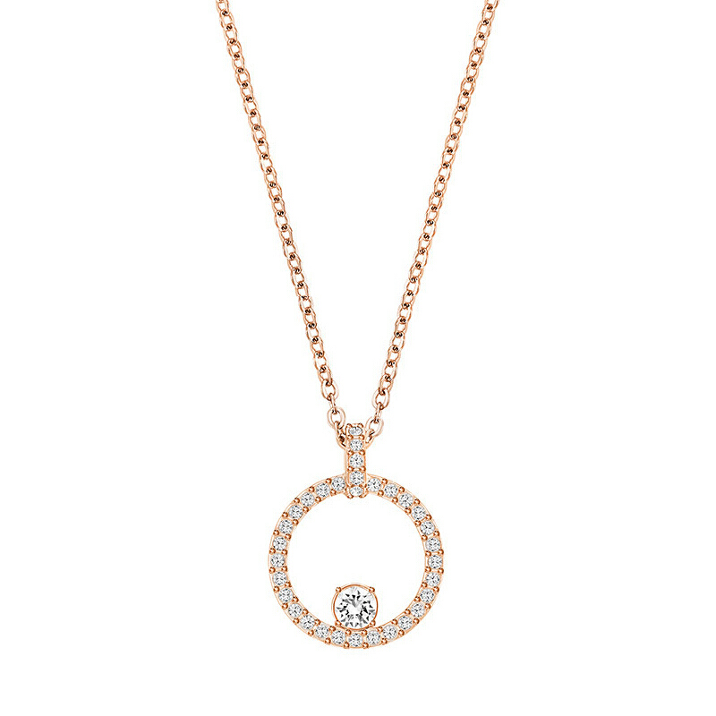 SWAROVSKI CREATIVITY CIRCLE PENDANT Rose-Gold Ring Necklace 5202446 Jewelry(Perhiasan)