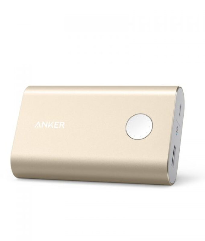 ANKER Powerbank PowerCore+ 10050mAh Quick Charge 3.0 Gold - A1311HB1