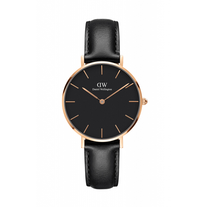 DANIEL WELLINGTON Classic Petite Black Sheffield 32mm Gold - [ClassicB32R1]