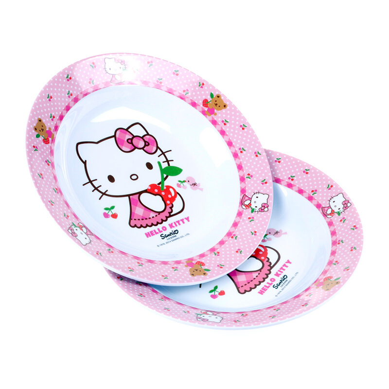 Jual VANDA MELAMINE Hello Kitty Sweet Cherry Piring Makan 2Pcs - 8 Inch JD.id
