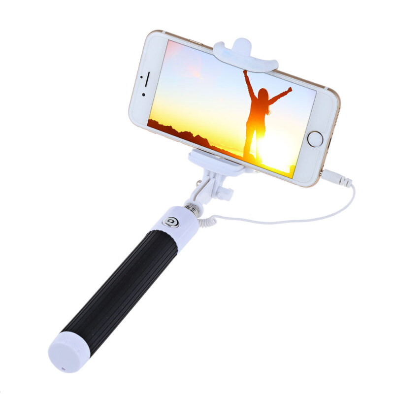 Collapsible Selfie Stick Monopod Wire Control Camera Shutter