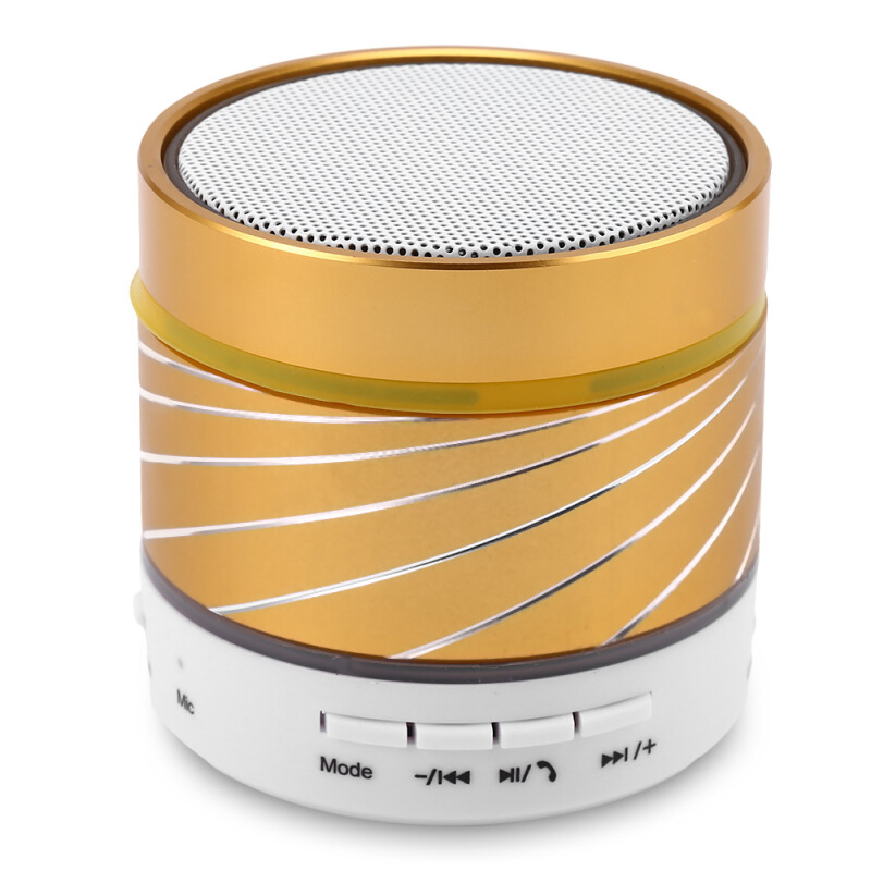 S07U Portable Bluetooth 3.0 Wireless Speaker with Hands-free Call LED Light TF Playback USB Flash Drive