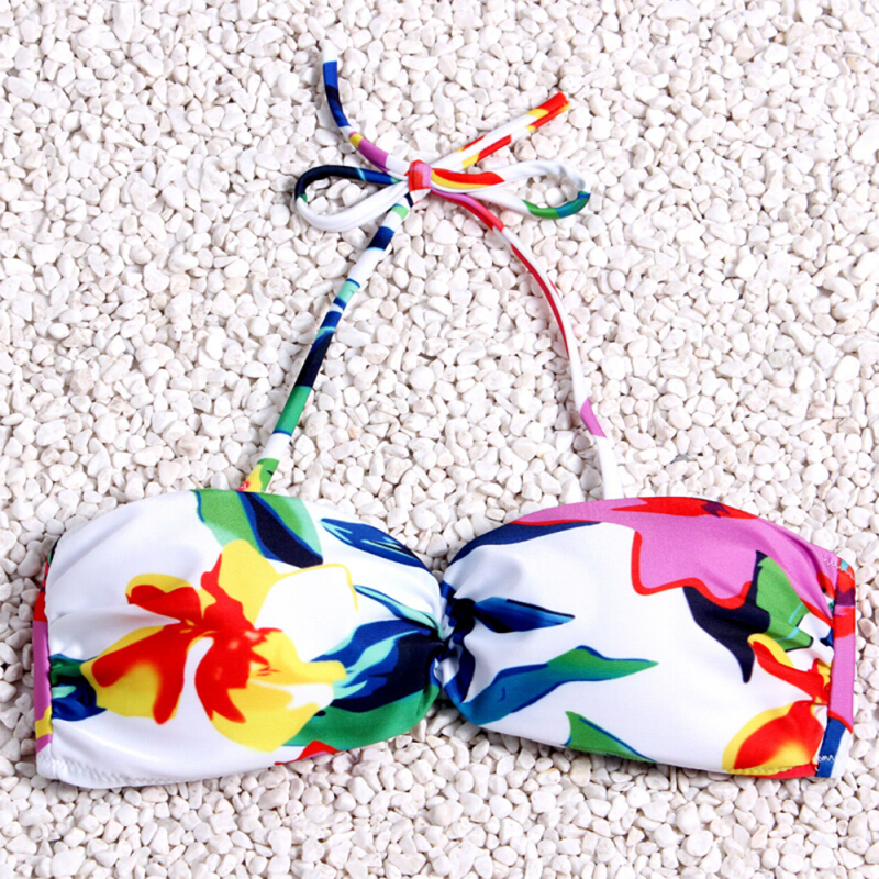 Woman Bikini Sets Print Flower Beach Bathing Suits Brazilian Swimsuit Lady Sexy Push Up Swimwear