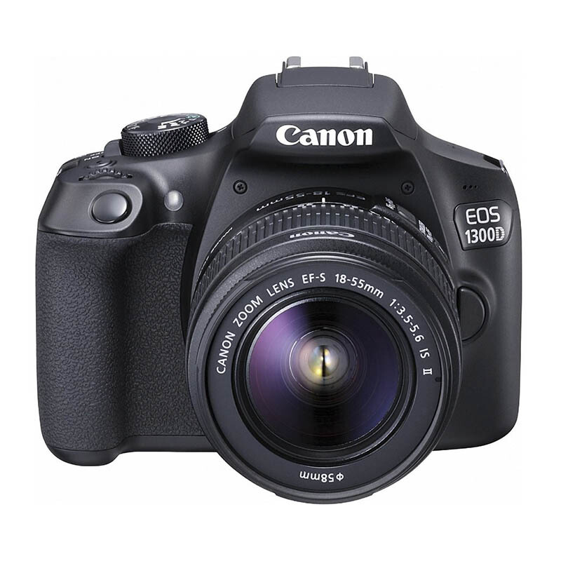 CANON EOS 1300D with Lens 18-55mm IS II Wifi - Black