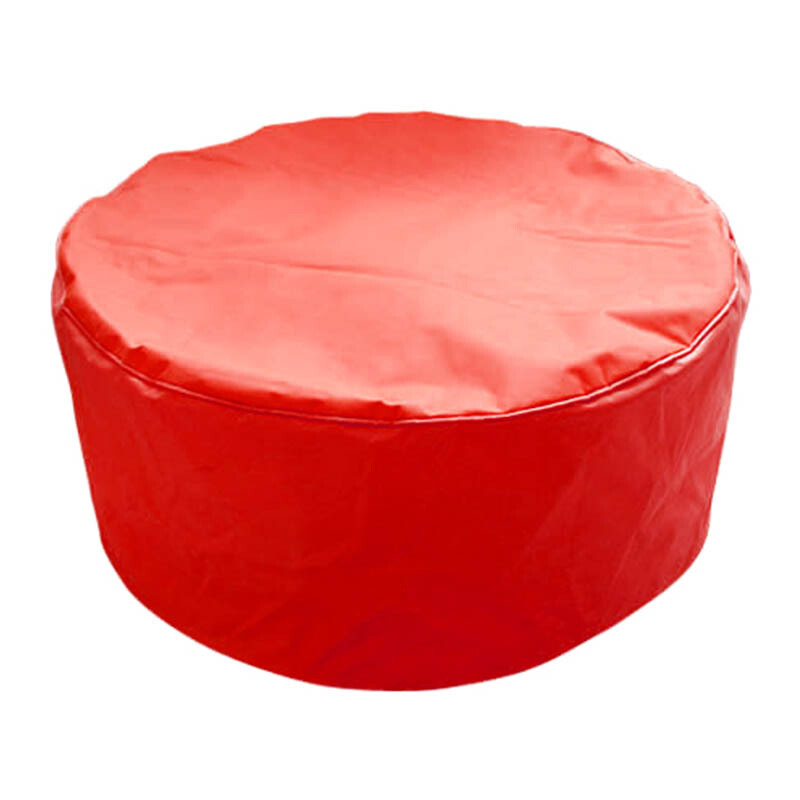 PRISSILIA Bean Bag Pouf Red 36x80x80cm