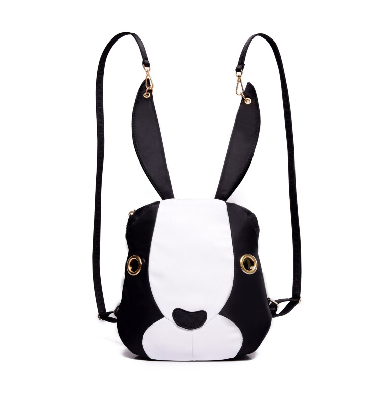 new handbag fashion big rabbit repellent nylon canvas shoulder bag backpack