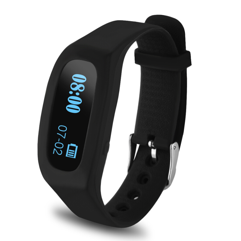 Excelvan OLED Smart Sport Watch/Bracelet Bluetooth V4.0 For Android and IOS (Black)