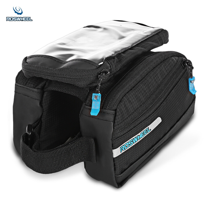 ROSWHEEL 121273 1L Touchable Bike Front Tube Bag