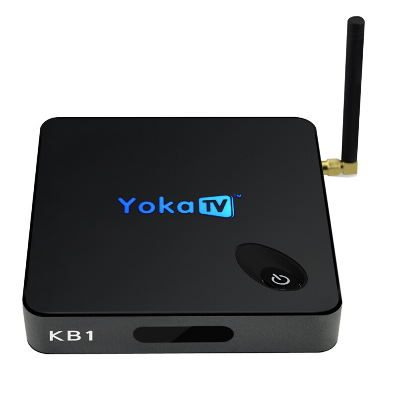 YOKATV KB1 Android 6.0 Set-up Box with Amlogic S905X Quad Core 2.4G + 5.8G Dual Band WiFi EU PLUG