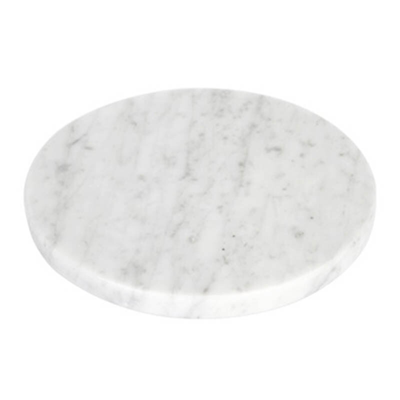 GLERRY HOME DÉCOR Round White Moonstone Marble - 12Cm