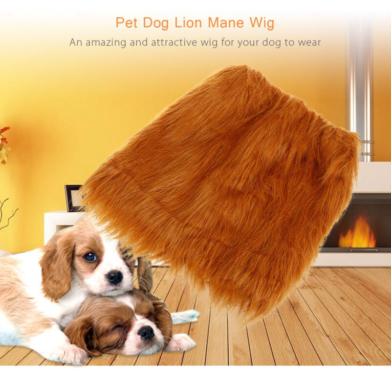 Pet Dog Lion Mane Wig Hairpiece Festival Costume