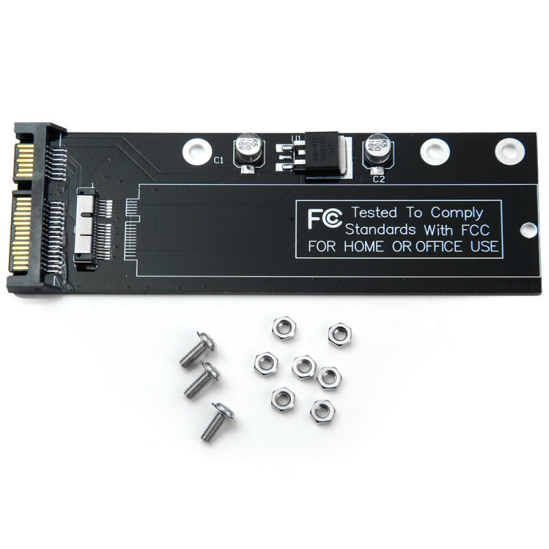 SA-161 12pin 6pin SDD to SATA Adapter Board for 2010 / 2011 Macbook Air