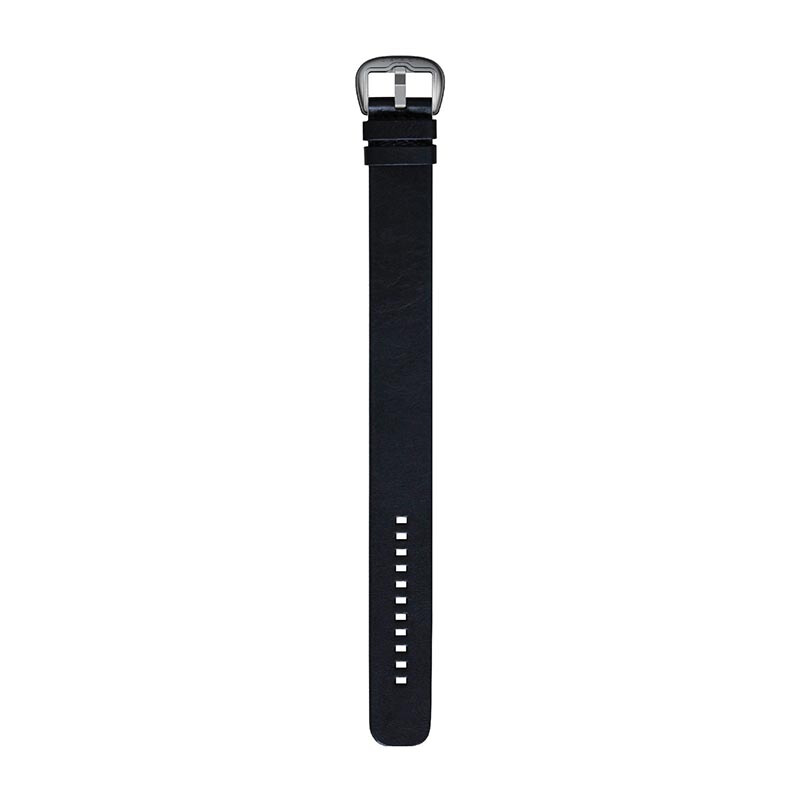 DIETRICH Straight, Leather Black And Stainless Steel Buckle
