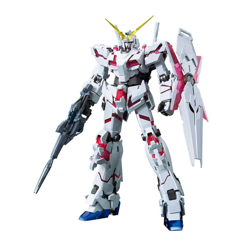 BANDAI Gundam MG 1/100 Unicorn Gundam ( Red/Green Twin Frame Edition) Titanium Finish