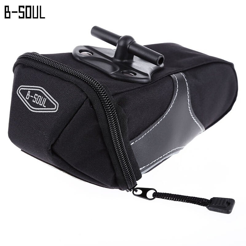 B - SOUL YA130 Bicycle Bike Quick Release Saddle Seat Tail Bag with Reflective Strip