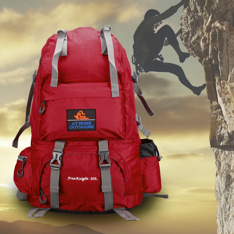 Jual Free Knight 50L Outdoor Backpack Hiking Bag Camping Travel Water  Resistant Pack Mountaineering Aosen 37c839261c